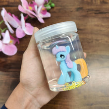 Load image into Gallery viewer, Little Unicorn Pony Transparent Slime