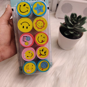 Stamps set of 10 - Smiley