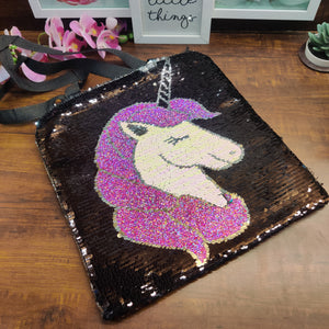 Unicorn Sequin Tote Bag