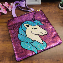 Load image into Gallery viewer, Unicorn Sequin Tote Bag