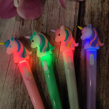 Load image into Gallery viewer, Pastel Unicorn LED Pen