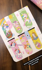Pair of Unicorn Magnetic Bookmarks (Assorted)