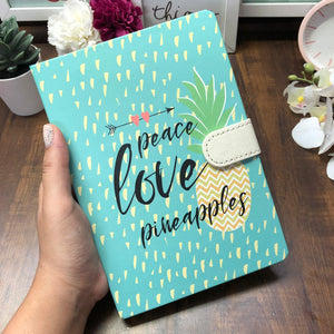 Love And Pineapples Mint Magnetic Notebook