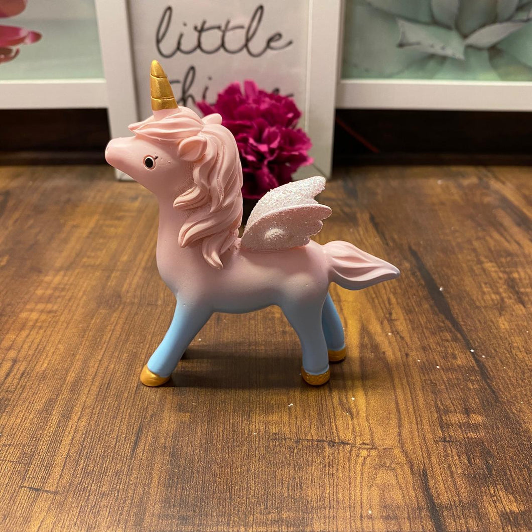 Unicorn Ombre Showpiece With Glitter Wings