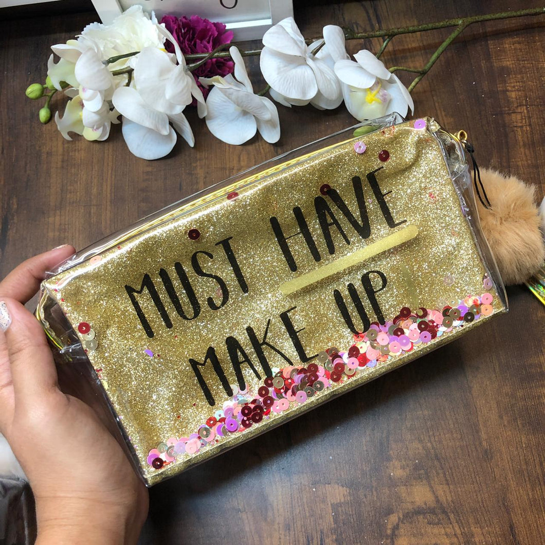 Moving Glitter Square pouch
