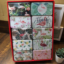 Load image into Gallery viewer, Flamingo Tin Boxes : Assorted