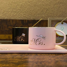 Load image into Gallery viewer, Mr. & Mrs. Mug + Plate Set - clearance sale
