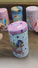 Load and play video in Gallery viewer, 3 tier unicorn tin box