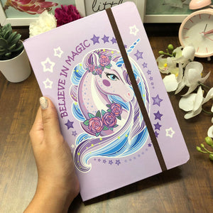Believe In Magic Lavender Notebook