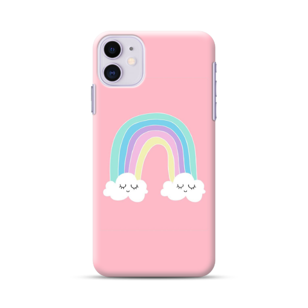 Pink Rainbow & Cloud Phone Case