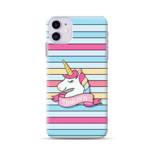 Colourful Strips With Unicorn Phone Case
