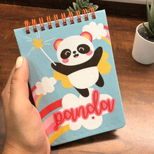 Load image into Gallery viewer, Pastel Spiral Notepad - Panda