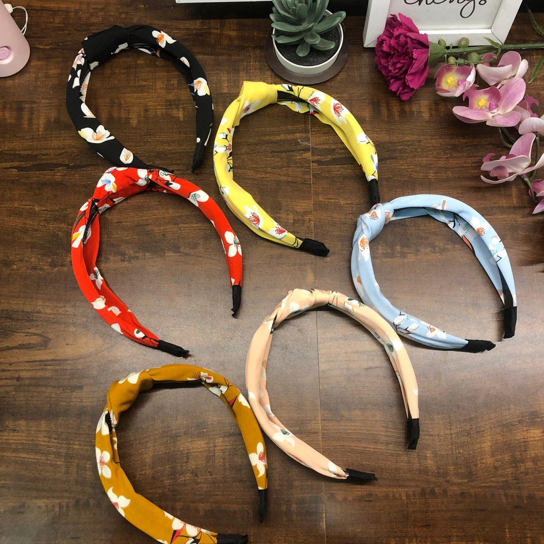 Cotton Floral Knot Hairband