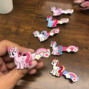 Big Unicorn rainbow hair clip