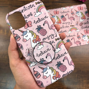 Unicorn Pink Doodle Phone case & Socket