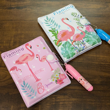 Load image into Gallery viewer, Flamingo diary with pen