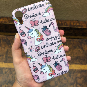 Believe in unicorns pink Phone Case