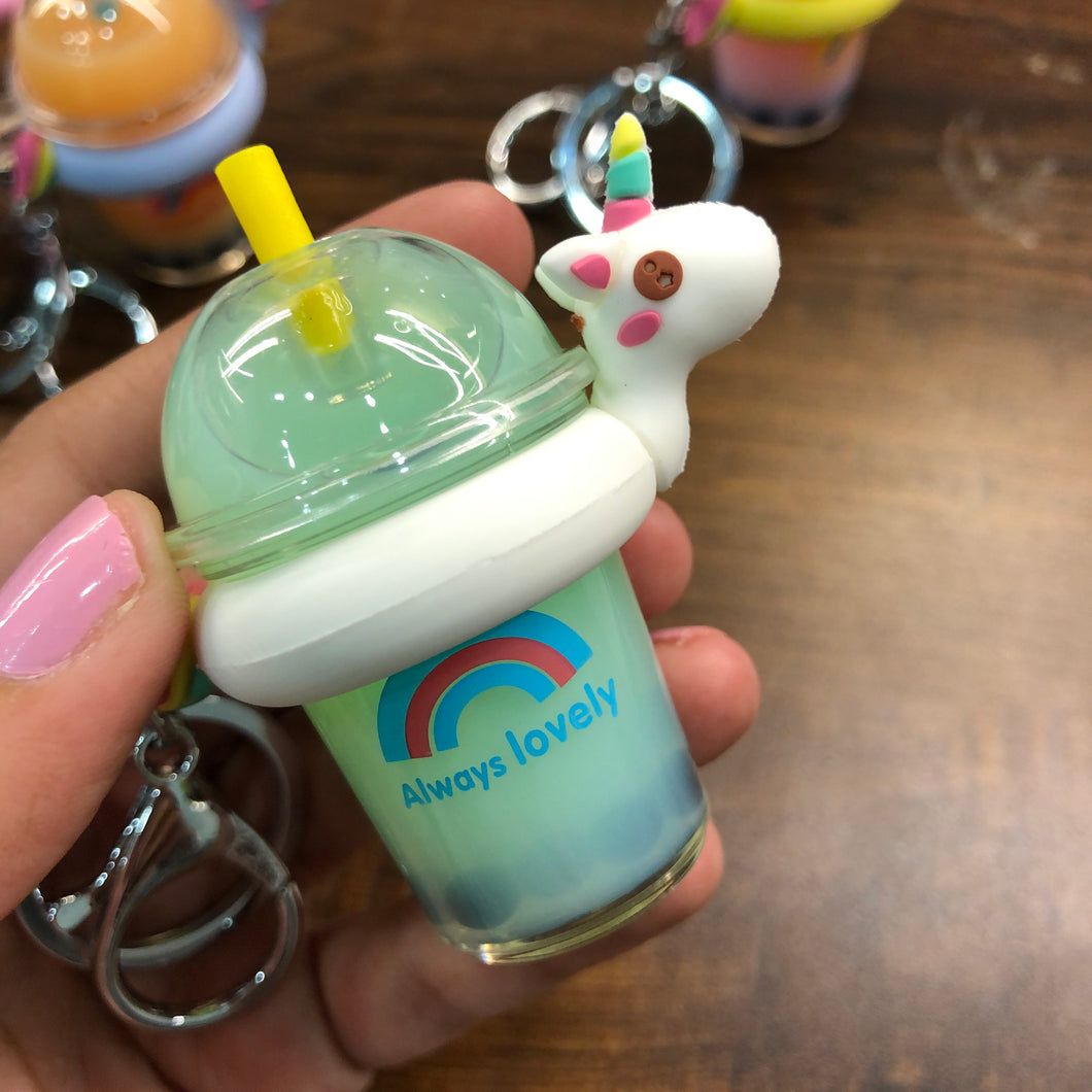 Unicorn sipper key ring