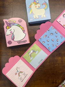 Unicorn Trendy Folding Sticky Notes