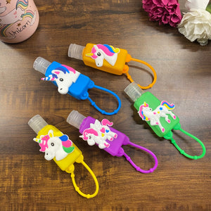 Unicorn (new) silicon holder with hand sanitiser