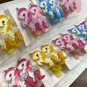 Unicorn Pair of Hair Clips- SD