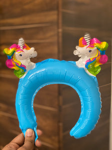 Unicorn Inflatable Headband- fresh stock - clearance sale