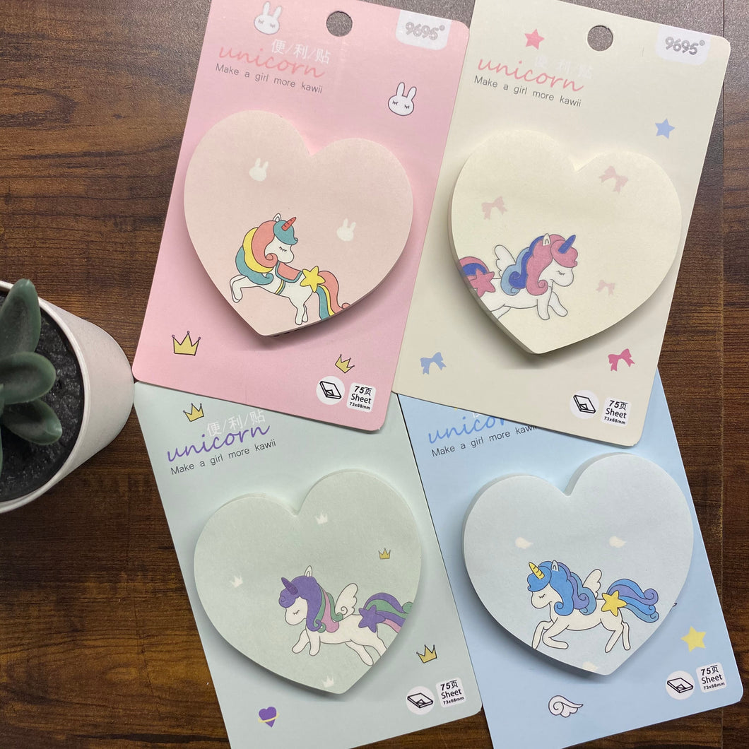 Unicorn Hearts Sticky Notes
