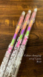 Ink Colour changing Pens - Set of 3