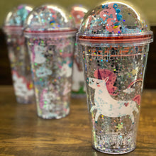Load image into Gallery viewer, Unicorn Glitter Sipper with Straw