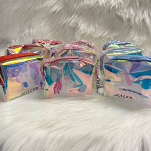 Unicorn Holographic Pouch with keychain