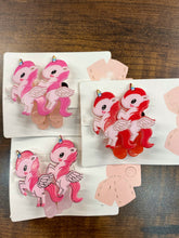 Load image into Gallery viewer, Unicorn Pair of Hair Clips- SD