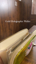 Load image into Gallery viewer, Gold Glitter Holographic Unicorn Wallet - clearance sale