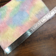Load image into Gallery viewer, Jumbo Rainbow Fur Cum Holographic Pouch