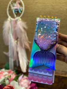 Mermaid Sequin Fish Tail Pocket Diary
