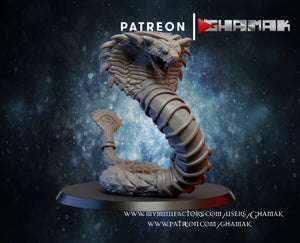 Light Slate Gray Collectible Miniature Monster royal-cobras-x3-40mm