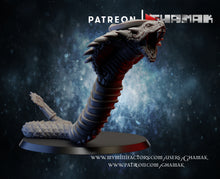 Load image into Gallery viewer, Slate Gray Collectible Miniature Monster royal-cobras-x3-40mm
