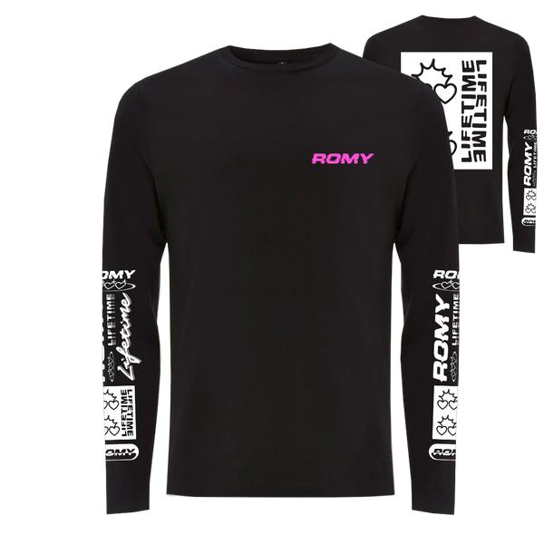 LIFETIME LOGOS BLACK LONG SLEEVE TEE