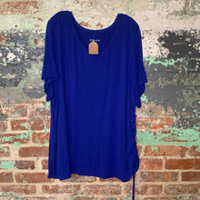 Load image into Gallery viewer, Ava & Viv Blue Tee Size 4X Large