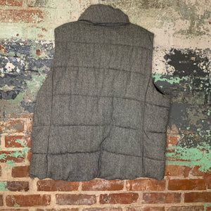 Old Navy Grey Puffy Vest Size 2X Large