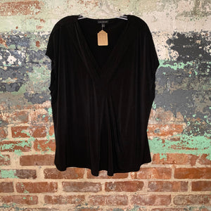 Lane Bryant Black V Neck Blouse Size 22/24