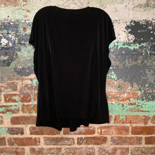 Load image into Gallery viewer, Lane Bryant Black V Neck Blouse Size 22/24