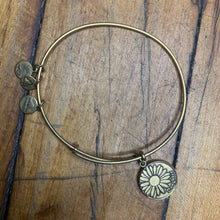 Load image into Gallery viewer, Alex and Ani Bronze Colored Daughter Charm Bracelet