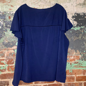 Lane Bryant Blue Blouse Size 24