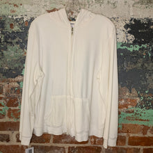 Load image into Gallery viewer, Old Navy White Fleece Zip Up Size XLarge