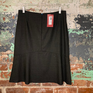 Cibeline Charcoal Fluted Skirt Size Small NWT