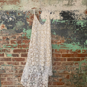 White Lace Hi Lo Day Dress Size Medium