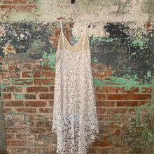 Load image into Gallery viewer, White Lace Hi Lo Day Dress Size Medium