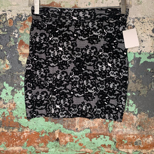 Charlotte Russe Black Lace Mini Skirt Size Small