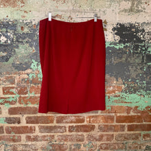 Load image into Gallery viewer, Amanda Smith Red Pencil Skirt Size 16