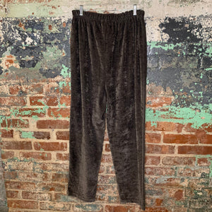 Milano Charcoal Microfiber Pants Size X Large